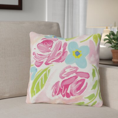 Holm Flowers Throw Pillow Size: 16 x 16