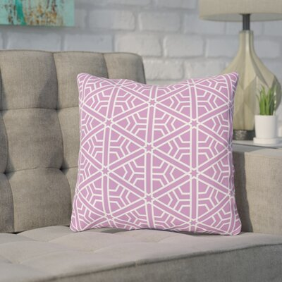 Absher Purple Outdoor Throw Pillow Size: 18 x 18