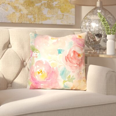 Lafon Peonies Outdoor Throw Pillow Size: 18 x 18