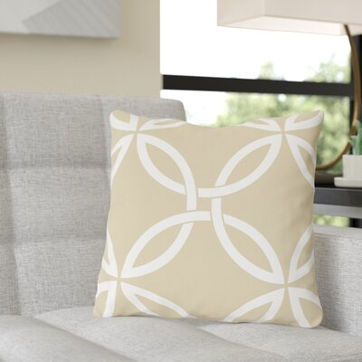 Jenkintown Interwoven Circles Outdoor Throw Pillow Color: Sand