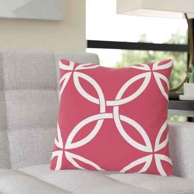 Jenkintown Interwoven Circles Outdoor Throw Pillow Color: Rose