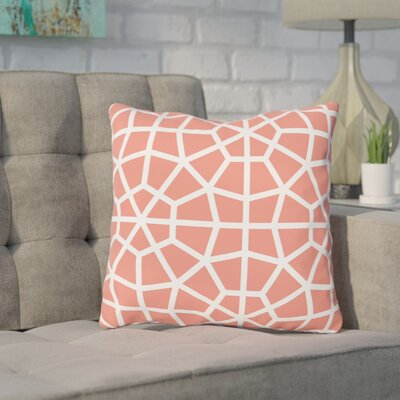 Diehl Coral Outdoor Throw Pillow Size: 18 x 18