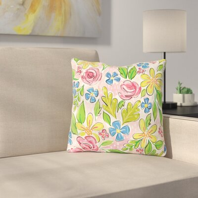 Pettaway Flowers Throw Pillow Size: 18 x 18