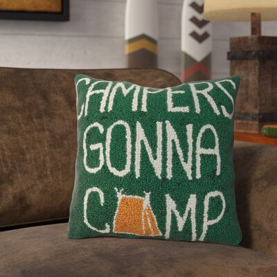 Rappaport Campers Gonna Camp Wool Throw Pillow