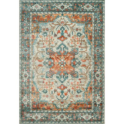 Ralph Soft Rust/Gray Area Rug Rug Size: Rectangle 53 x 76