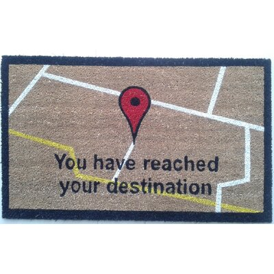 Gamino Destination Pin Vinyl Backed Coir Doormat