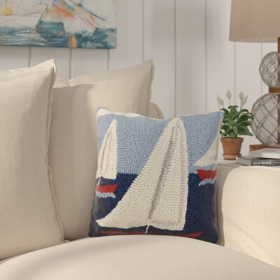 Eaglin Sail Boat Trio Wool Throw Pillow