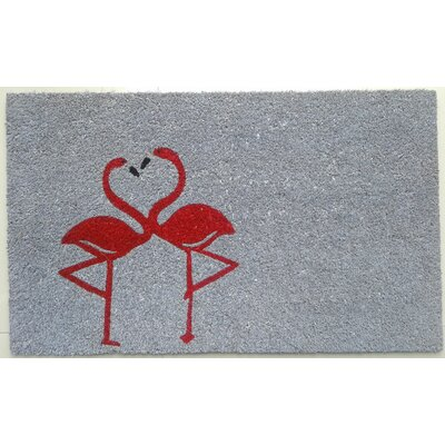 Scoville Flamingos Vinyl Backed Coir Doormat