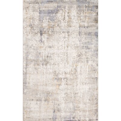 Ramage Abstract Hand-Woven Gray/Yellow Area Rug Rug Size: Rectangle 8 x 10