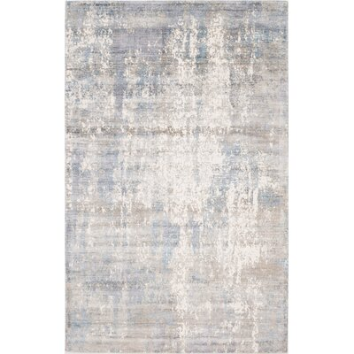 Ramage Abstract Hand-Woven Gray/Blue Area Rug Rug Size: Rectangle 8 x 10
