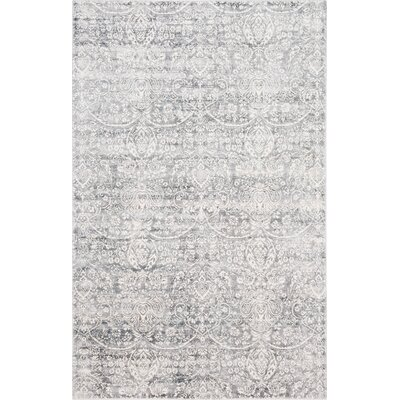 Ramage Distressed Hand-Woven Gray/Ivory Area Rug Rug Size: Rectangle 8 x 10