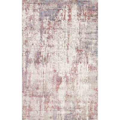 Ramage Abstract Raspberry Hand-Woven Gray/Red Area Rug Rug Size: Rectangle 8 x 10