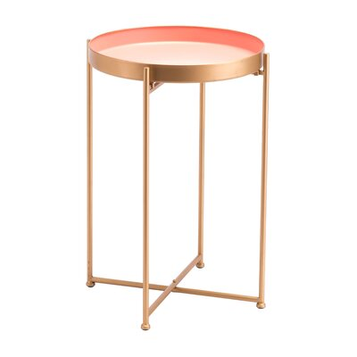 Holmgren Short End Table Size: 23.8 H x 17.1 W x 17.1 D