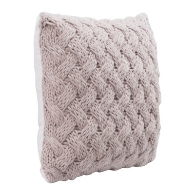 Mcshan Faux Fur Throw Pillow Color: Dusty Pink