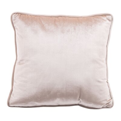 Cristobal Velvet Throw Pillow Color: Velvet Pillow Gold
