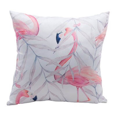 Lockhart Flamingo Silk Throw Pillow