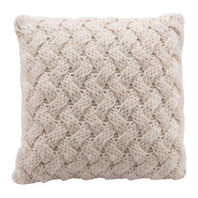 Mcshan Faux Fur Throw Pillow Color: Beige