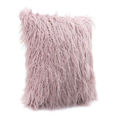 Hollowell Faux Fur Throw Pillow Color: Dusty Pink