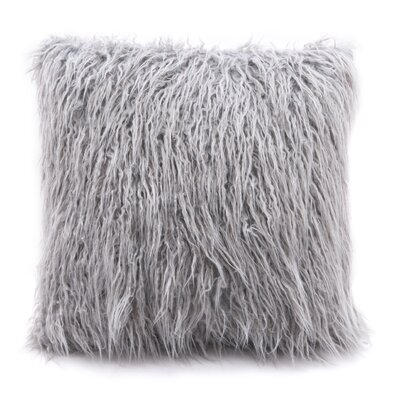 Hollowell Faux Fur Throw Pillow Color: Gray