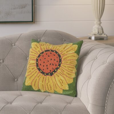 Gandara Sunflower Wool Throw Pillow
