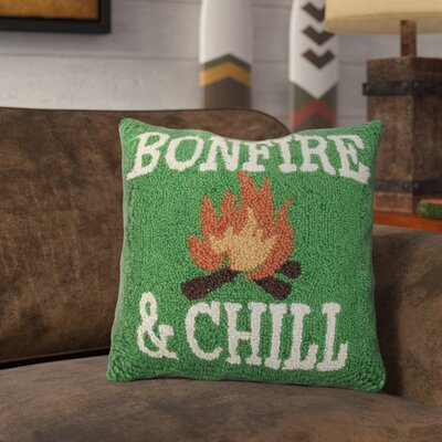 Resnick Bonefire and Chill Wool Throw Pillow