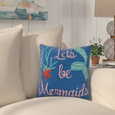 Hobbs LetS Be Mermaids Wool Throw Pillow