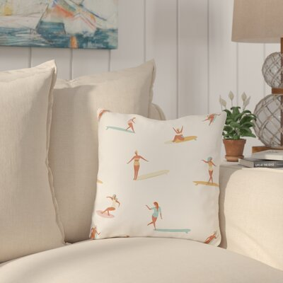 Pickering Surf Babes Outdoor Throw Pillow Size: 18 x 18