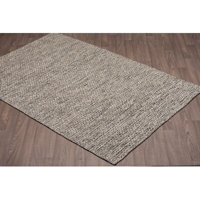 Ralls Reversible Hand-Woven Gray Wool Area Rug Rug Size: Rectangle 8 x 10