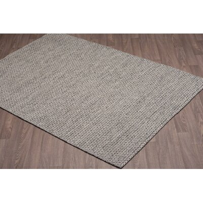 Ralls Reversible Hand-Woven Gray Wool Area Rug Rug Size: Rectangle 5 x 8