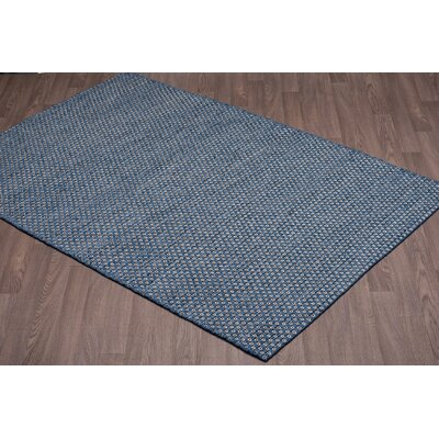 Ralls Reversible Hand-Woven Blue Wool Area Rug Rug Size: Rectangle 5 x 8