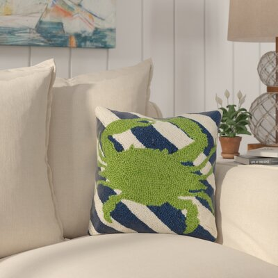 Earls Crab Stripes Wool Throw Pillow