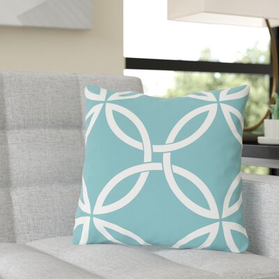 Jenkintown Interwoven Circles Outdoor Throw Pillow Color: Sky