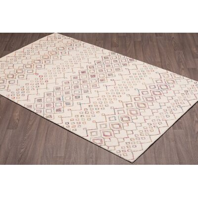 Quillen Hand-Woven Ivory Wool Area Rug Rug Size: Rectangle 8 x 10