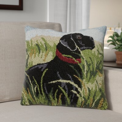 Nevis Lab in Reeds Wool Throw Pillow