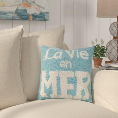 Hinson La Vie En Mer Wool Throw Pillow