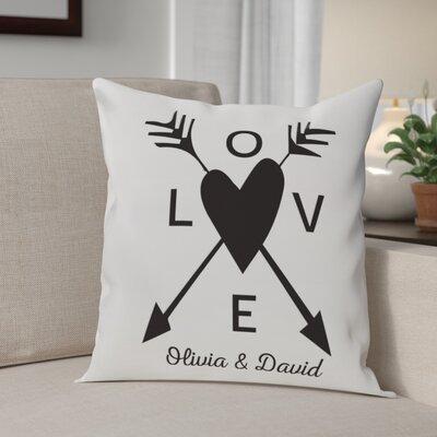 Barnette Love Arrows Throw Pillow