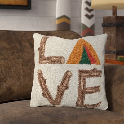 Rasnick Love Camp Wool Throw Pillow