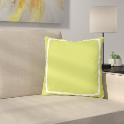 Biller Simple Square Outdoor Throw Pillow Color: Lime Green, Size: 18 x 18