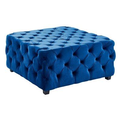 Hinkley Cocktail Ottoman Upholstery: Blue Velvet