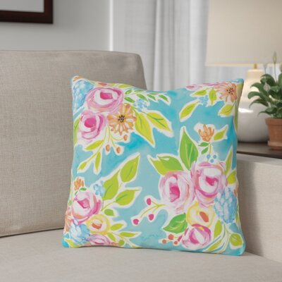 Rauth Flowers Throw Pillow Size: 16 x 16