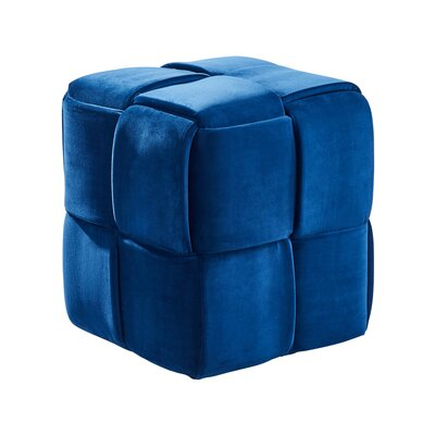 Cutler Cube Ottoman Upholstery: Blue