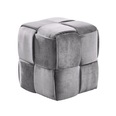 Cutler Cube Ottoman Upholstery: Gray