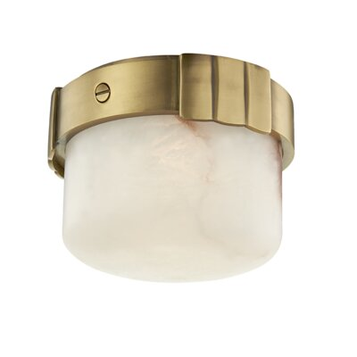Googe 1-Light LED Flush Mount Fixture Finish: Aged Brass
