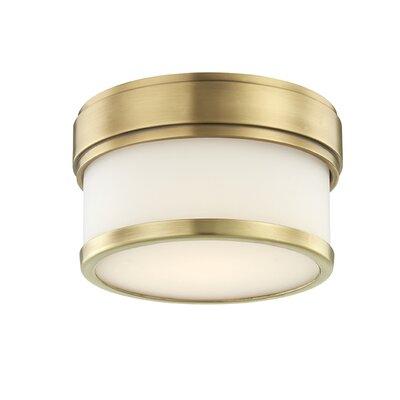 Marcello 1-Light LED Flush Mount Fixture Finish: Aged Brass