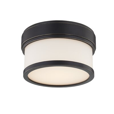 Marcello 1-Light LED Flush Mount Fixture Finish: Old Bronze