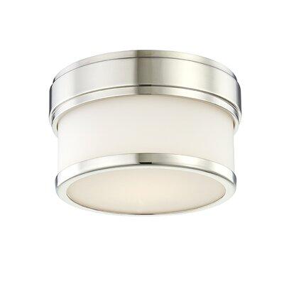Marcello 1-Light LED Flush Mount Fixture Finish: Polished Nickel