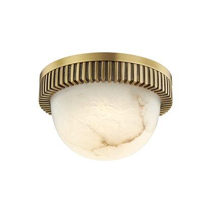 Gossard 1-Light LED Flush Mount Fixture Finish: Aged Brass
