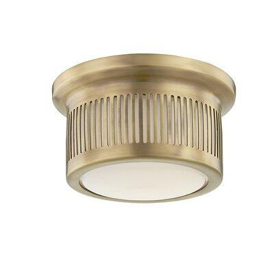 Furness 1-Light LED Flush Mount Fixture Finish: Aged Brass