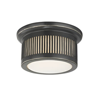 Furness 1-Light LED Flush Mount Fixture Finish: Old Bronze