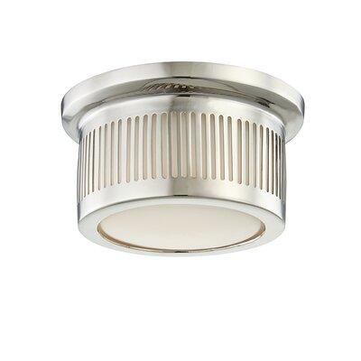 Furness 1-Light LED Flush Mount Fixture Finish: Polished Nickel
